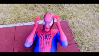 Spiderman Training w/ Superman & Hulk vs Venom & Joker - Superheroes Movie Real Life - Video