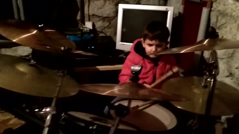 4 Year Old Drummer Mihail plays(Bruno Mars drum cover) 24 K Magic