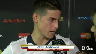 Reporter James Rodriguez was beautiful ladies ' blooper ' during interview - Video