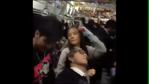 Thailand Tourists bad manners dancing on the Japan Railway