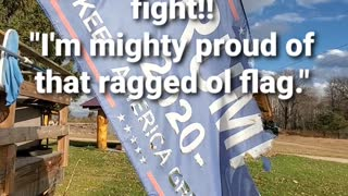 This ragged ol flag will never be replaced
