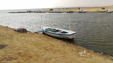 Old Boats Trip For Tourists In Wadi El Rayan Egypt