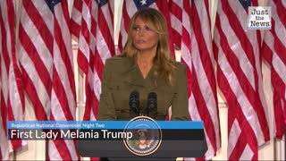 Melania Trump calls for racial unity and end to violence