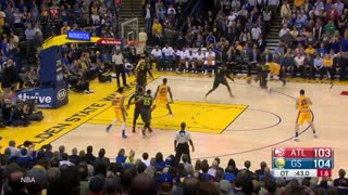 Draymond Green Sinks Ridiculous Off-Balance 3 Pointer - Video
