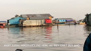World's largest floating city in Cambodia  - Video