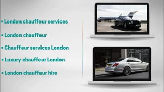 Chauffeur services London - Video