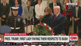 Anderson Cooper leads CNN panel discussing Trump paying respect to former Pres. Bush