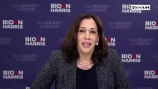 "Kamala Harris brags about ""Harris Administration"""