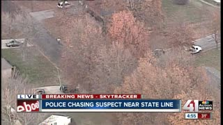 Police Chase Leads to Foot Pursuit...Suspect On The Loose
