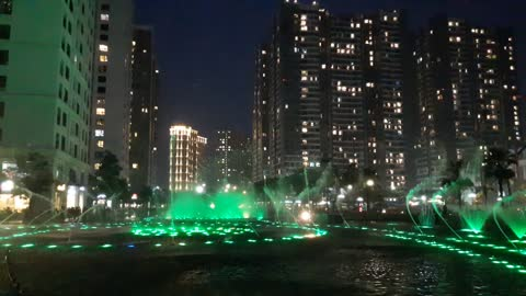 Water Music in time city Viet Nam