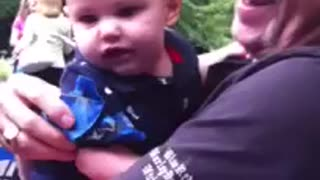 Baby Laughs At Grandfather's Teasing In The Most Adorable Way - Video