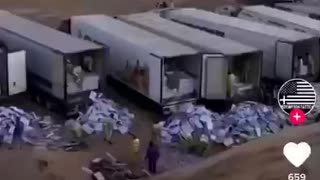 Hiding the evidence. Trump ballots being dumped in Arizona or Nevada