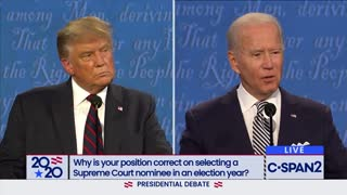 Trump vs Biden debate Supreme Court question