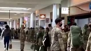 ATALANTA AIRPORT MILITARY ARRIVING (3 JAN 2021)