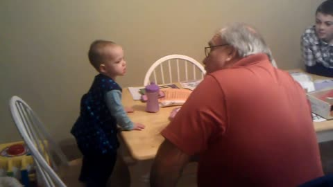 Baby Girl Has Epic Debate With Her Grandpa