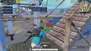 Pubg Mobile Game Protecting Area With Lots of Enemies In Front