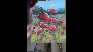 Painting Poppies  - Video