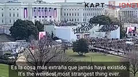 What the fake inauguration actually looked like…