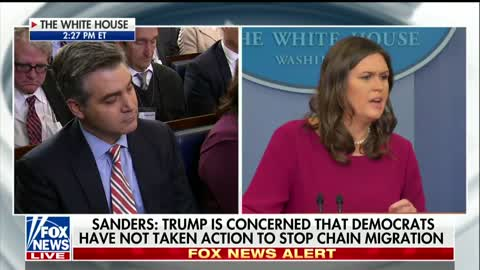 Sarah Sanders, Jim Acosta Get Into Tense Exchange Over Reporters Intentionally Misleading Public