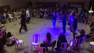 Competition of street dance