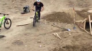 Dirt bike front wheelie faceplant - Video