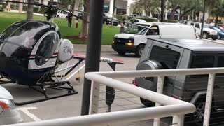 Helicopter Emergency Landing on Street - Video