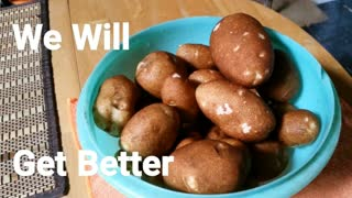 Mom And Son First Potato Harvest Off Grid Home