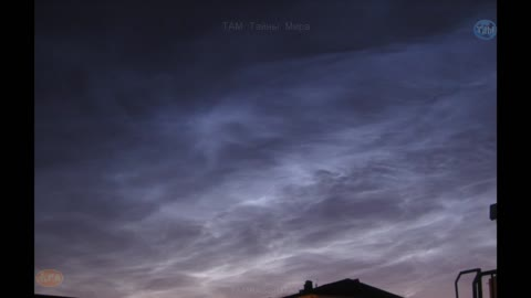 Timelapse of noctilucent clouds