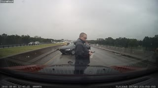 Driver Performs P.I.T Manoeuvre on Themselves - Video