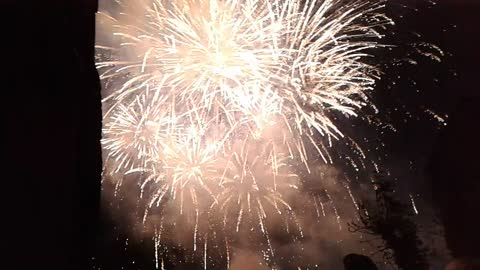 The world Cup-2016 fireworks. Russia. Zelenogradsk. The performance of the team of Russia