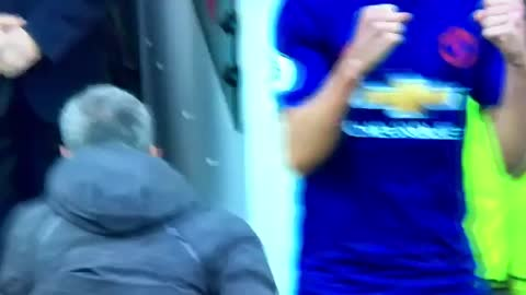 Jose Mourinho's reaction to Antonio Valencia's goal vs Middlesbrough