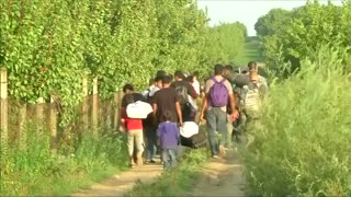 Migrants in Serbia re-route to Croatia - Video