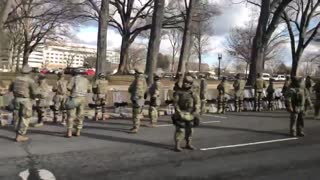 Troops turn there backs on Biden