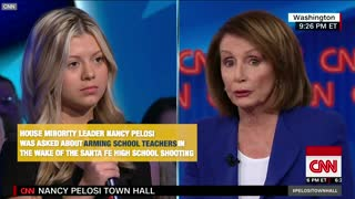 Nancy Pelosi's Comments On School Security - Video