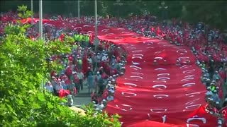 Thousands take part in peace march in Ankara - Video