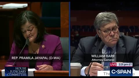 """Rep. Jayapal To Bill Barr: """"I'm Starting To Lose My Temper"""""""
