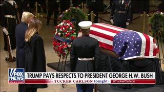 President Trump, first lady pay respects to George H.W. Bush - Video
