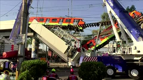 Mexico promises answers after train collapse