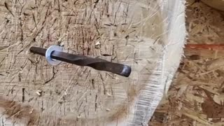 Pinning a Half Inch Washer with a Throwing Spike