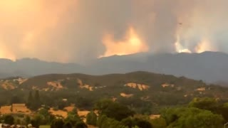 Lakeport California Fire - Video