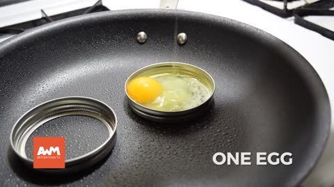 She puts two mason jar lids into her oiled skillet and I was confused... But the result? WOW!