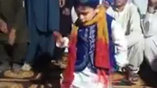 Soo cute small boy dancing on marriage in pakistan  - Video