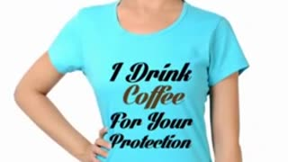 Turquoise Funny T Shirts Women - Video