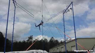 Trapeze missed bar fall - Video