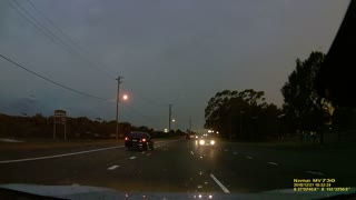 Lightning Storm Caught with Dashcam