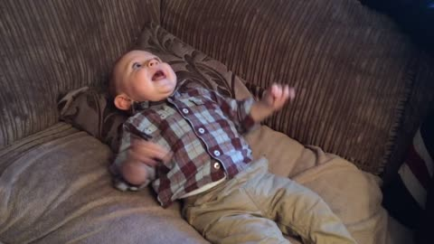 Warning: This baby's laughter is contagious!