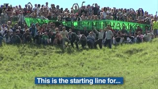 Crazy Cheese Rolling Event - Video