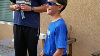 Boy Receives Enchroma Glasses From Father - Video