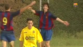 Rare footage of Young Messi - Video