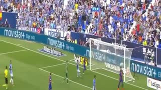 Neymar Goal vs Leganes 0-3 - Video